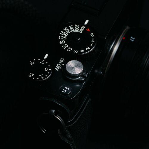 Botón del obturador plano de calidad de Reino Unido-Plata De Liberación Suave Para Fuji Olympus Tornillo en
