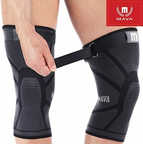 Sufficient Support Knee Compression Brace Pain Stabilizer Sleeves by MAVA XXXL
