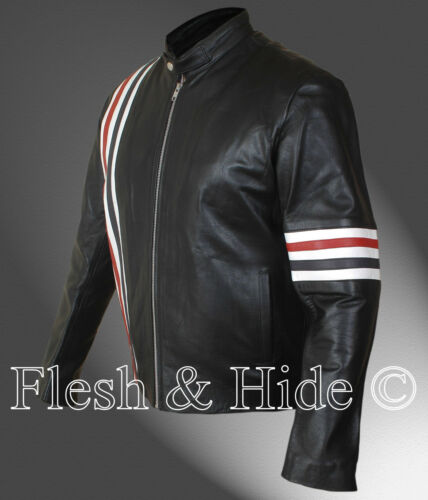 Easy Rider Peter Fonda Wyatt Motorcycle Jacket with US Flag on the Back