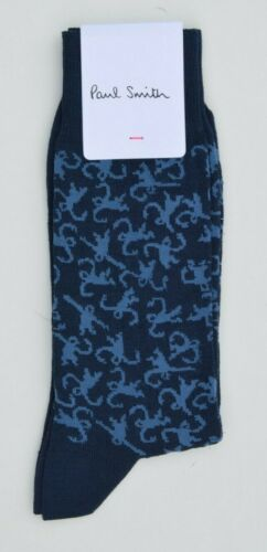 PAUL SMITH blue socks Monkey ape mens cotton MADE IN ITALY