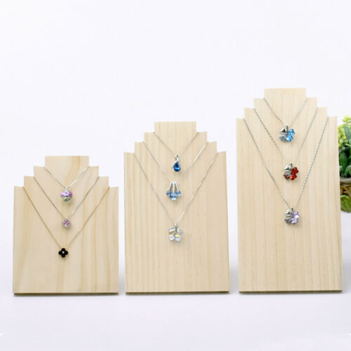 Wood Wooden Display Stands Necklace Holder Photograph Props Trinkets 3 Sizes