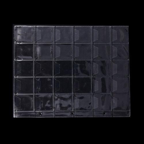 10 Sheet 30 Pockets Plastic Coin Holders Storage Collection Money Album Case/_DM