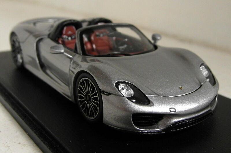 Spark 1 43 scale S4244 porsche 918 spyder argent 2014 résine voiture modèle