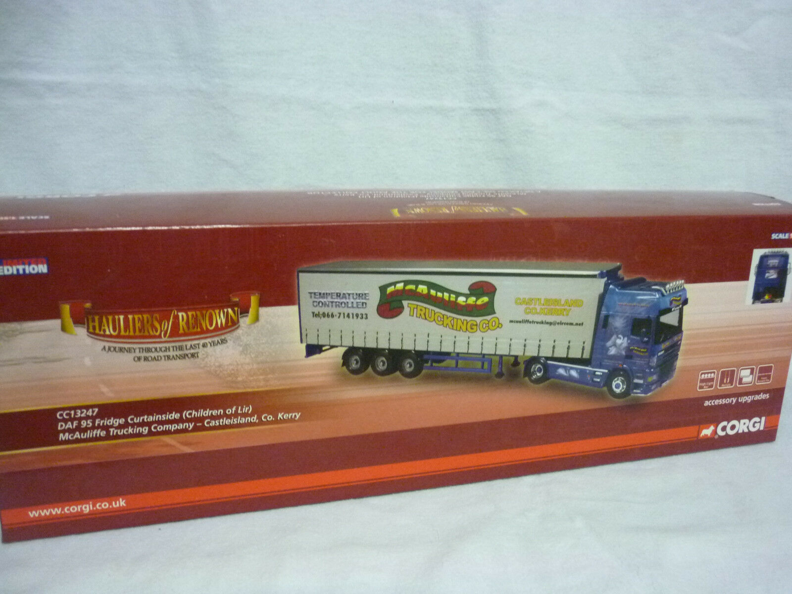 Corgi Modern Truck/transport CC13247 DAF Réfrigérateur Curt McAuliffe Trucking Trucking Trucking Comme neuf/boxed | Soldes  c3095a