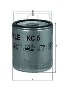 Fuel-Filter-Mahle-Kc-5