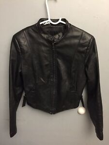 0ea340a40 Details about Vintage Wilsons Motorcycle Leather jacket Women's Sz 12