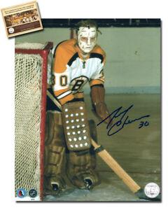 Gerry-Cheevers-Signed-8x10-Hockey-Photo-WCA-Hologram-Certified-COA