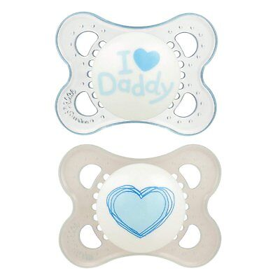 Baby Feeding Mam Love /& Affection Orthodontic Pacifier Girl I Love Daddy 0-6