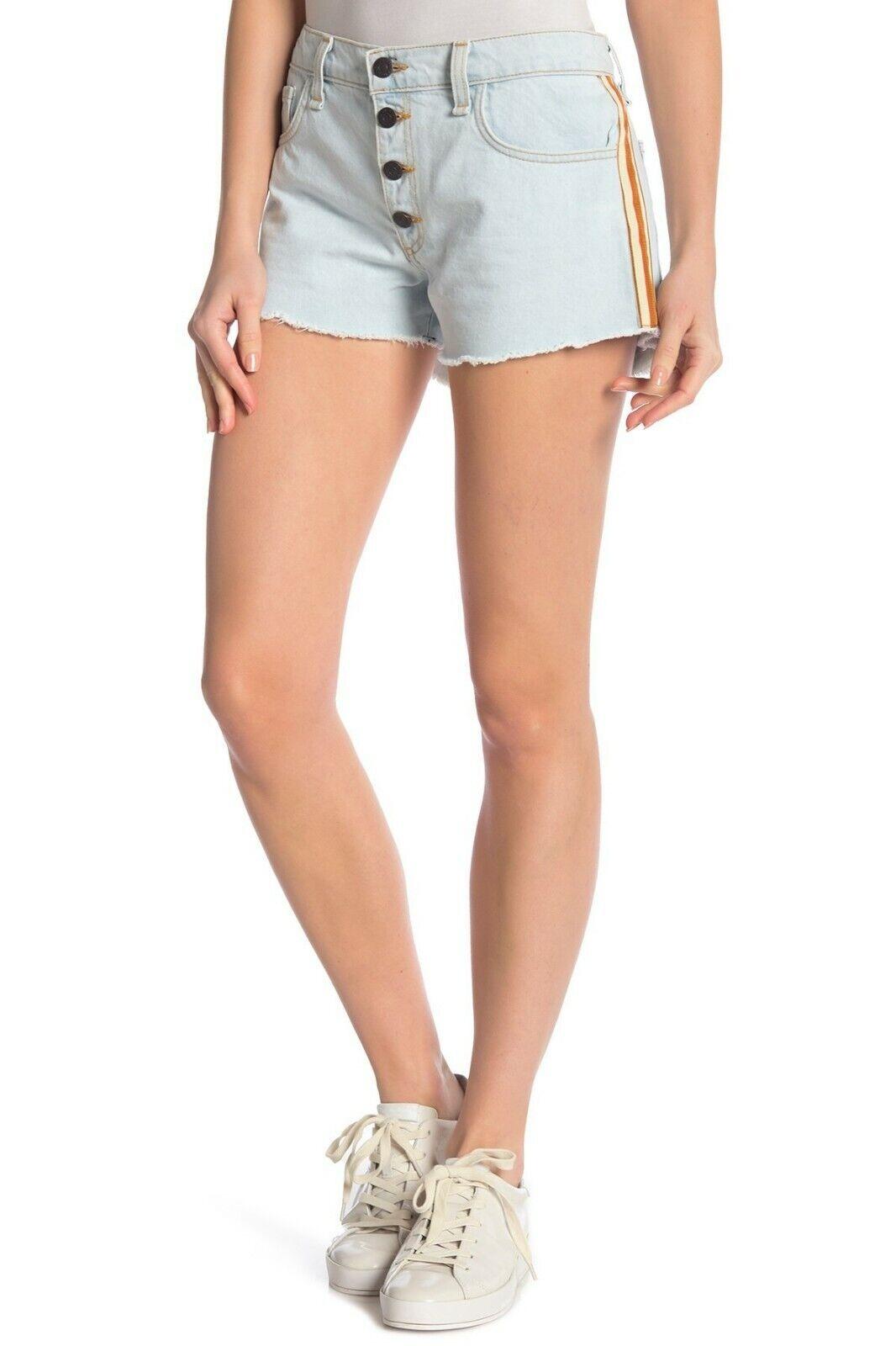 NWT  Veronica Beard Debbie Denim Shorts (Bleach) Womens Size 30