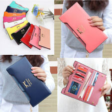 Cute Bow Women Long Leather Thin Wallet  Multi ID Credit Card Holder Purse Gift