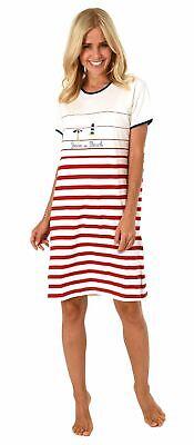 Damen Shorty-Pyjama Kurzarm von Normann in maritimer Optik 191 205 90 920
