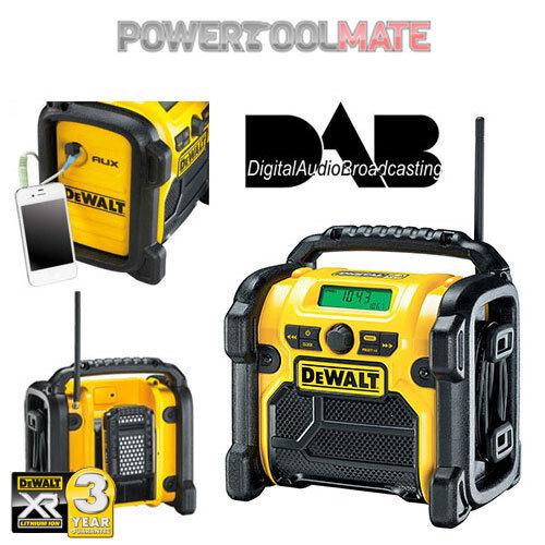 Dewalt DCR020 240v XR Compact DAB Digital Jobsite Radio 10.8v 14.4v 18v
