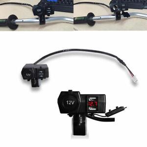 Kit-presa-corrente-Doppia-Impermeabile-GPS-accendisigari-USB-per-moto-Luce-rossa
