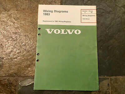 1983 volvo 240 260 242 262 244 264 electrical wiring diagrams service  manual  ebay