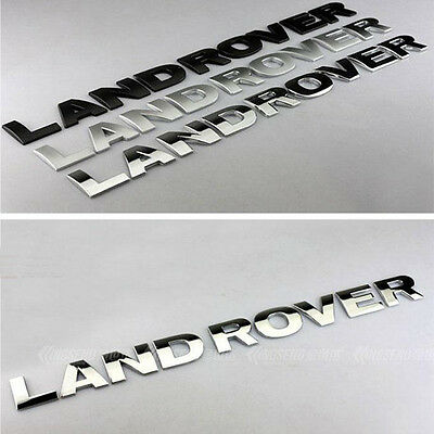 "shiny silver""Land Rover"" Hood Trunk 3D Letter Sticker Emblem badge Fit Discovery"