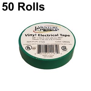 """TapesSupply 1 Roll Blue Electrical Vinyl PVC Tape 2/"""" x 66 ft"""