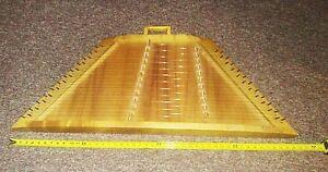 "Large Wood 46 String Melody Harp Musical Lap Instrument 45"" x 18"" x 3.5 Dulcimer"