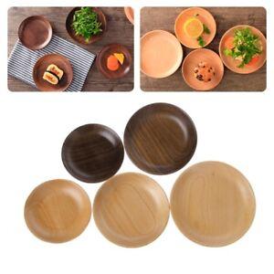 Wooden-Round-Plates-Fruit-Cake-Tea-Coffee-Dessert-Dish-Food-Serving-Tray