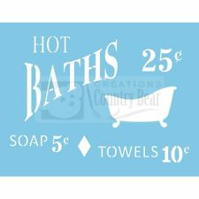 Stencil - Hot Bath -  Bain à 25¢  -   ST-063