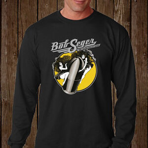 Bob-Seger-and-The-Silver-Bullet-Band-Legend-Long-Sleeve-Black-T-Shirt-Size-S-3XL