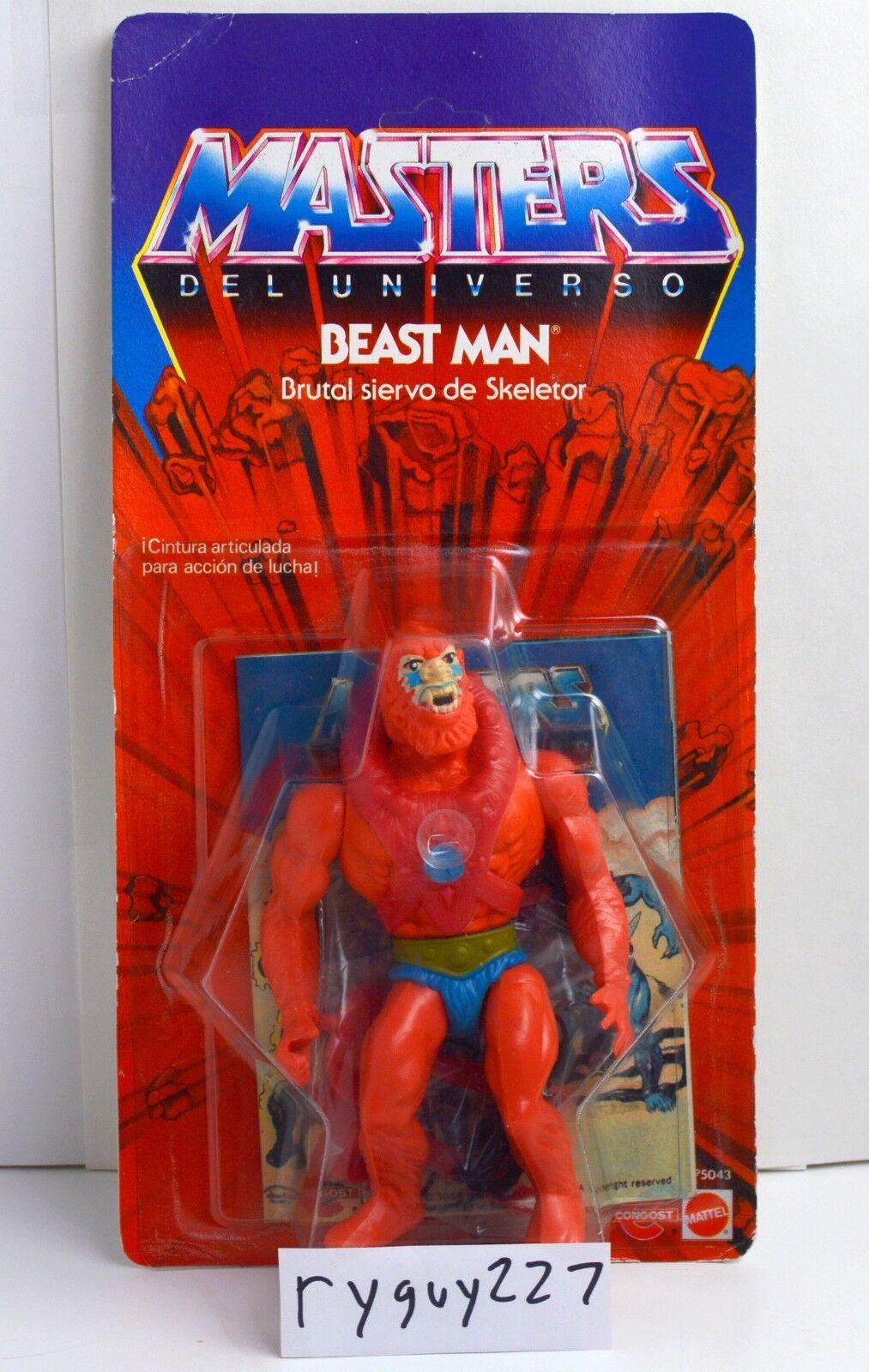 Amos del Universo, Beast Man, Congost 8-Back, Amos del Universo, menta en tarjeta, cardado, Sellado