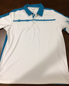 Men-s-Adidas-Golf-Climacool-Short-Sleeve-Polo-Shirt-Size-L-White-Teal