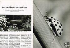 Publicité advertising 1977 (2 pages) Appareil photo Macro Canon