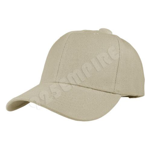 Plain Solid Color Adjustable Baseball Cap Hats For Men Women Unisex