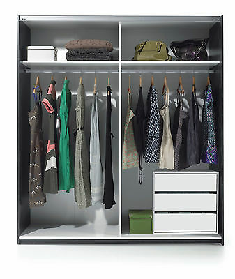 Universal Wardrobe Internal Drawers Alpine White Unit Chest of Drawers Storage