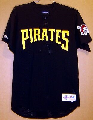 newest b0ee0 528d8 PITTSBURGH PIRATES Black Mesh #60 MLB BATTING PRACTICE JERSEY | eBay