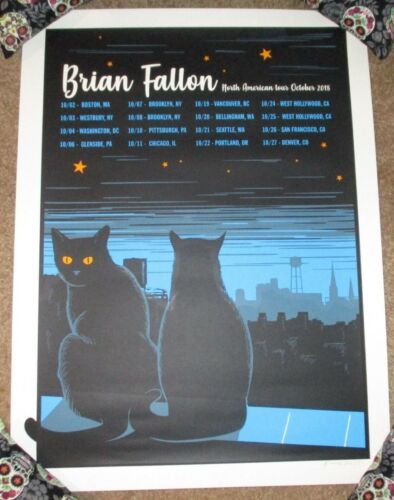 BRIAN FALLON concert poster NORTH AMERICA October 2018 gaslight anthem hellgate