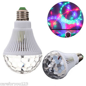 E27 LED Lighting Full Color Rotating Lamp Disco Party Club Effect Lights Stage