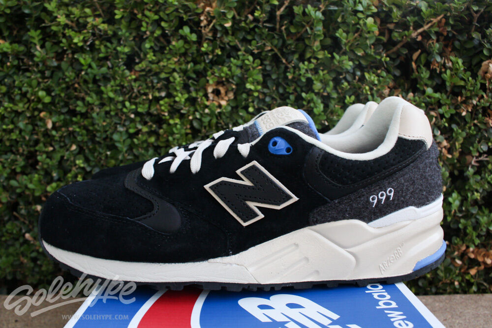 NEW BALANCE 999 WOOLLY MAMMOTH PACK SZ 7.5 BLACK BEIGE ROYAL ML999MMT