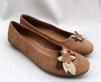 Clarks Vanilla Womens Tan Suede Shoes Pumps Size Uk 7