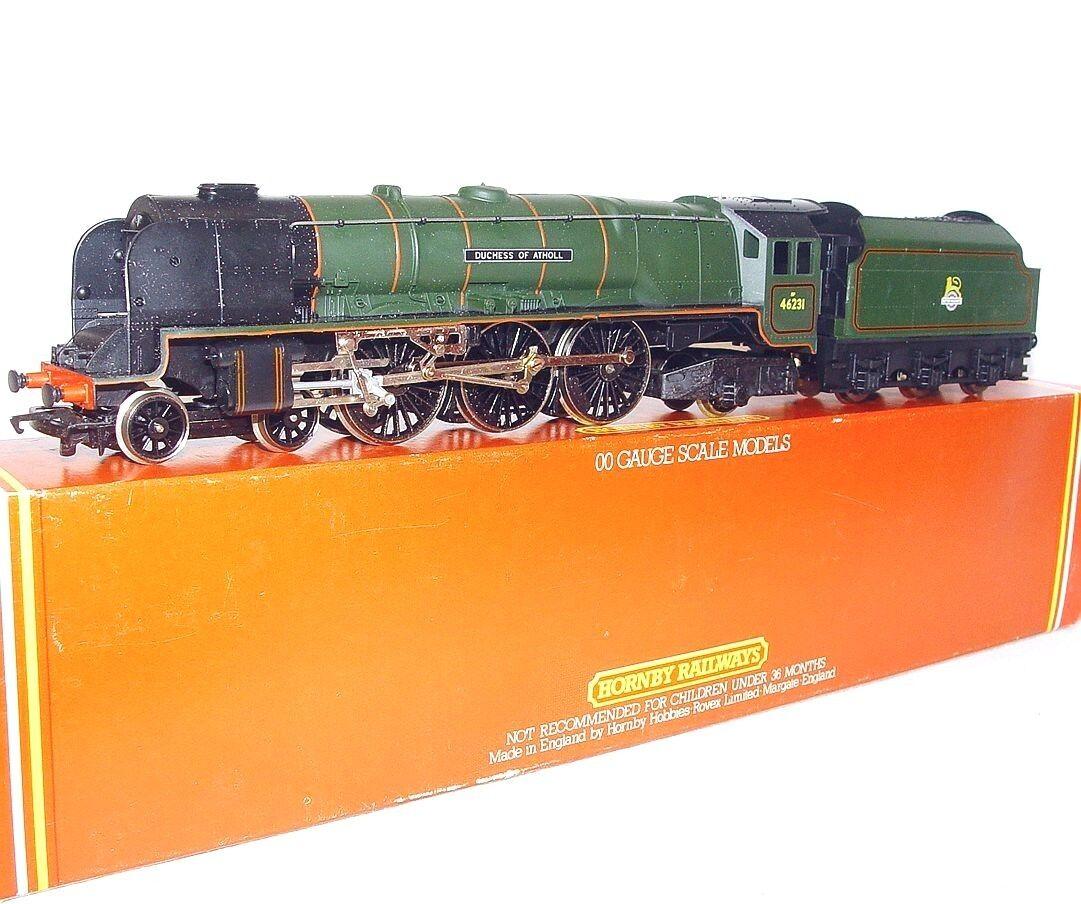 Hornby OO HO DC British Railways  DUCHESS OF ATHOLL  STEAM LOCOMOTIVE verde MIB