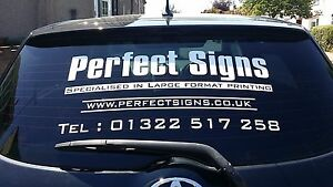 Car Rear Window Stickers Advertising Vinyl Signs Graphics Decals - Car window decals for business uk