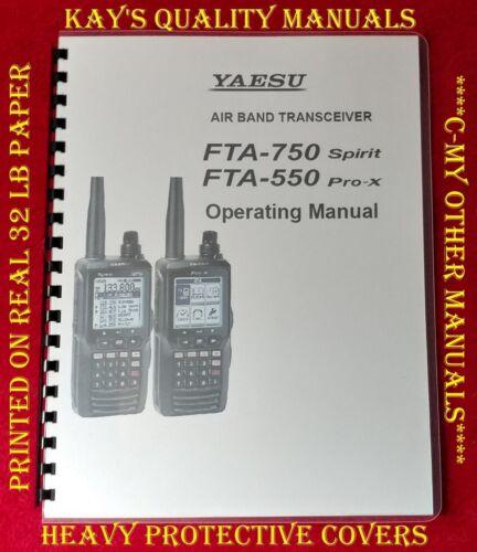 High Quality Yaesu FTA-750 sprint 550 pro-x Operating Manual