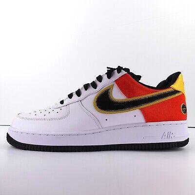 Nike Air Force 1 07 LV8 White Black Orange Flash CU8070-100 Size 11.5 194502172508 | eBay