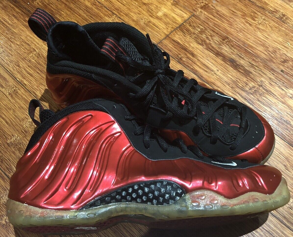 2012 BLACK RED METALLIC 1 ONE FOAMPOSITE AIR NIKE Size
