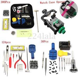 144-380Pcs-Kit-Watch-Repair-Tool-Back-Case-Set-Opener-Remover-Spring-Pin-Bar