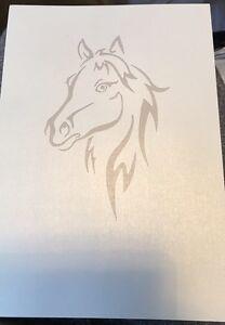 Plantilla de corte de papel de caballo impreso en papel A4 120gsm nacarado Corte De Papel