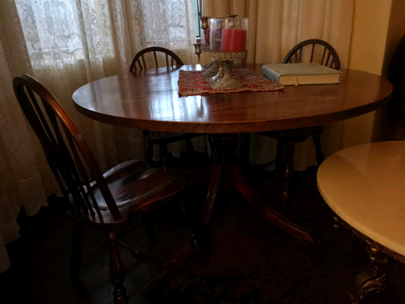 Solid Wood Antique table plus 3 chairs