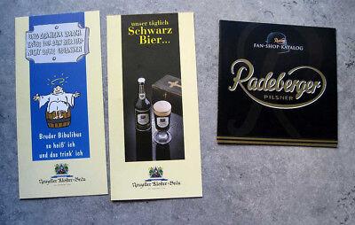 Sonstige Bier & Brauerei Broschüre Flyer Werbung Brauerei Radeberger Neuzeller Kloster-bräu 3 Stück Perfekte Verarbeitung