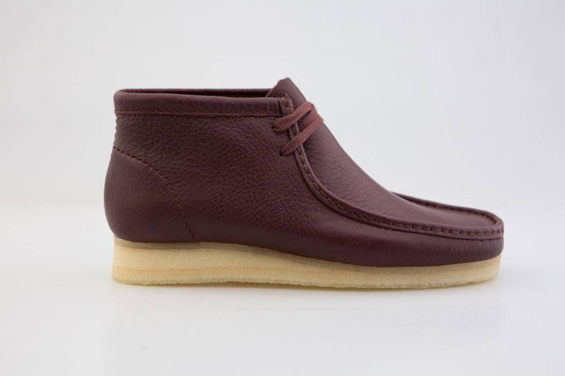 Clarks Originals Wallabee Boots Men's Burgundy Tumbled Red Leather 26125541