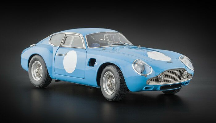 1961 Aston Martin DB4 GT Zagato Racing Version Blue by CMC in 1:18 Scale  CMC140