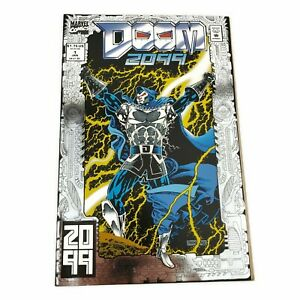 Marvel-DOOM-2099-1-034-Muses-of-Fire-034-Foil-Cover-1993-Direct-Edition