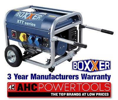 Boxxer 3200 Kw Petrol Generator dual voltage 240/110v 16 Amp Rating 3.2 Kva