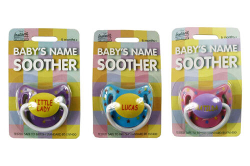 Baby Girls Name Personalised Dummy names A-E Soother//Pacifier multi listing