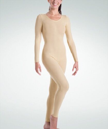 12-14 Body Wrappers MT217 Adult Size Large Nude Full Body Long Sleeve Unitard