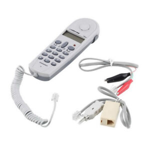 WR_ EG_ Professional Phone Test Dual System Telephone Tester Lineman Cable Set S